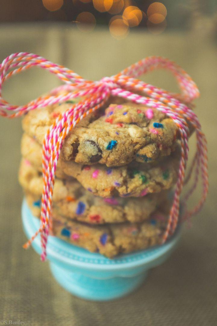 Loaded Cake Batter Cookies