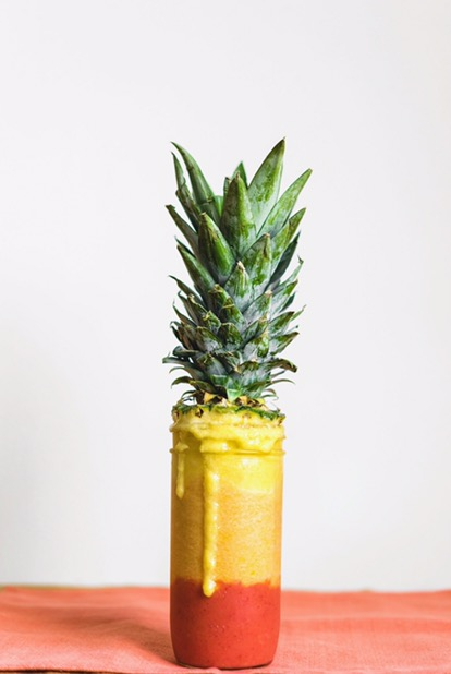 Ombré Pineapple smoothie